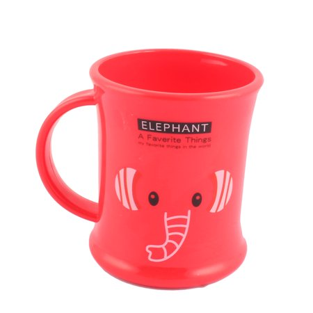 Household Bathroom Plastic Elephant Pattern Toothbrush Toothpaste Gargle Cup Red - image 2 of 2