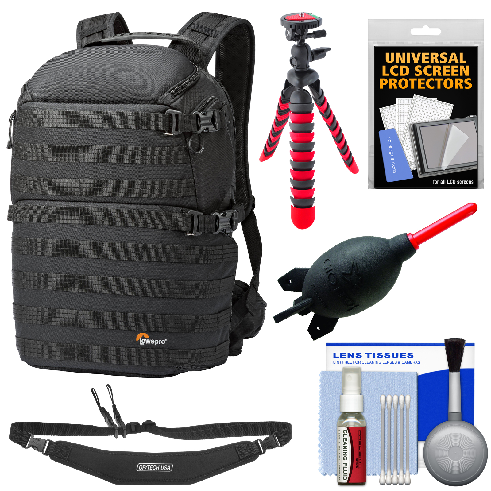 Lowepro Pro Tactic 450 AW Digital SLR Camera Backpack Case (Black) with Flex Tripod + Sling Strap + Accessory... by Lowepro