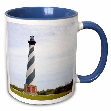 3dRose Cape Hatteras Lighthouse in North Carolina - US34 DFR0031 - David R. Frazier - Two Tone Blue Mug, 11-ounce