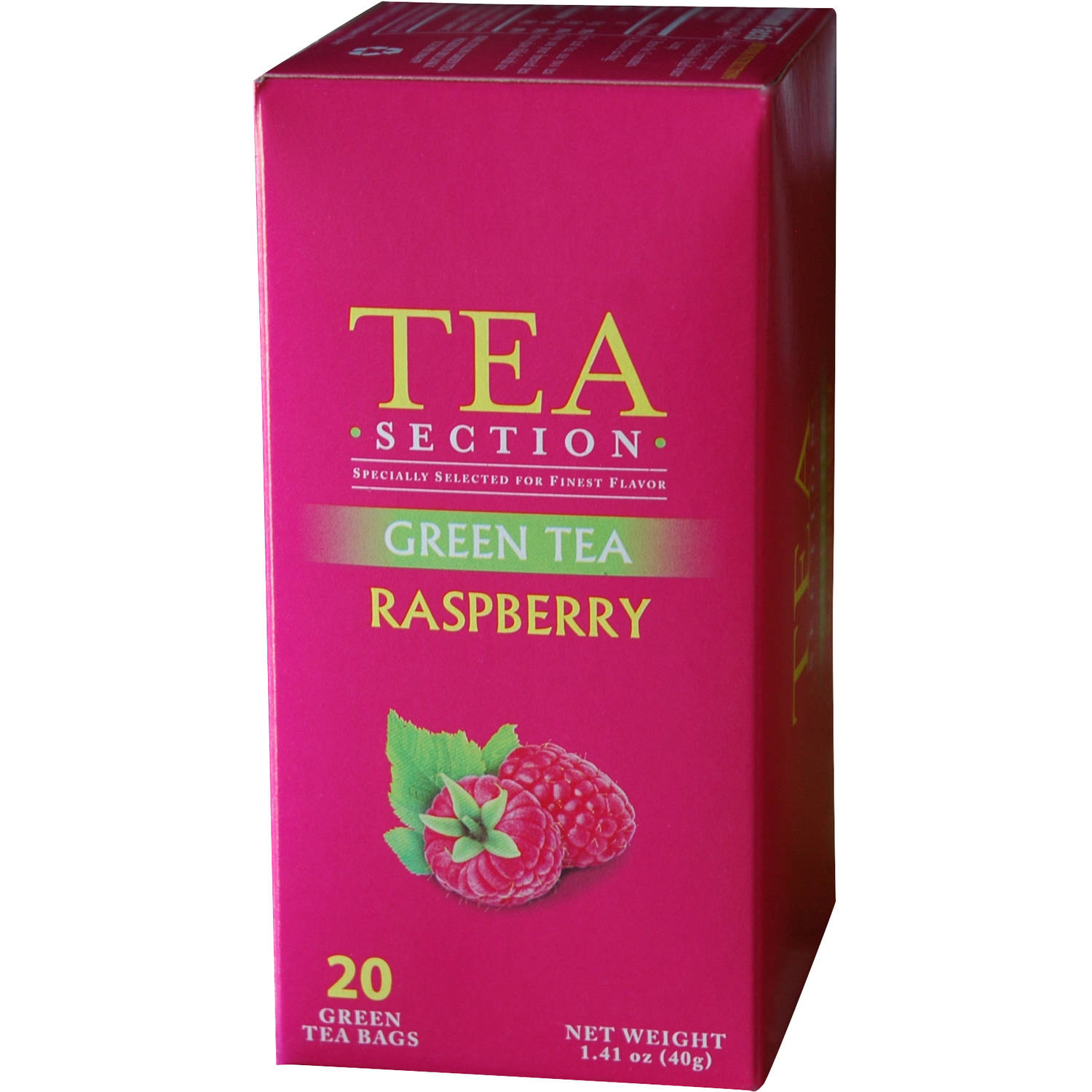 Tea Section Raspberry Green Tea Bags, 20 count, 1.41 oz