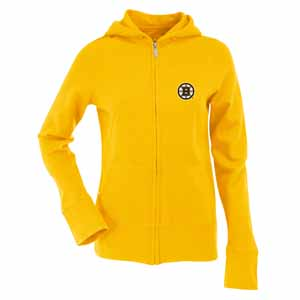 Boston Bruins Womens Zip Front Hoody Sweatshirt Color Gold