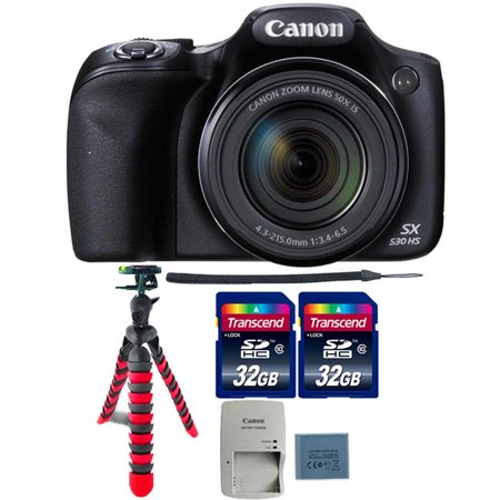 Canon PowerShot SX530 HS 16MP Digital Camera with Top Accessories