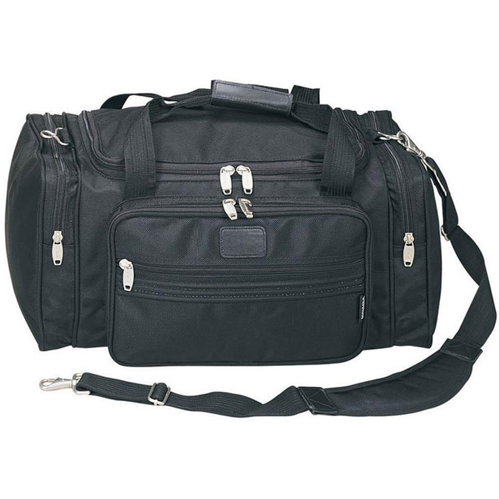 The Passenger (Carry-on) GYM Sport Travel Duffel Bag- Black, Made of modern, heavy-duty 1680D ballistic nylon with heavy-duty zipper and hardware