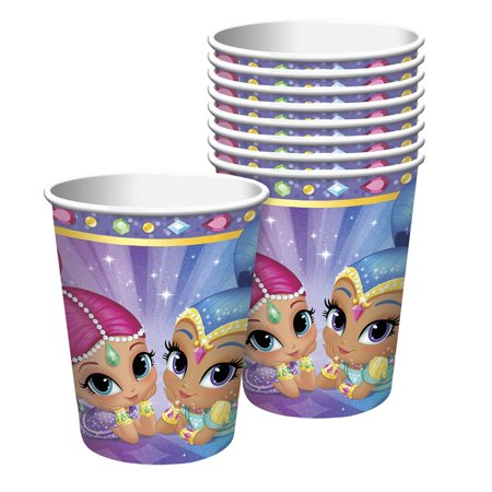 Mn Cup - Nickelodeon Shimmer and Shine 9oz Cups, 8 Count
