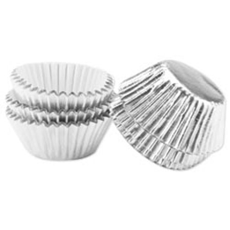 Bulk Buy: Wilton Mini Bon Bon Baking Cups 36/Pkg Silver Foil 36/Pkg Bon Bon  W415MINI (6-Pack)