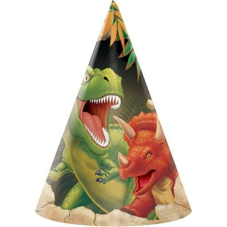 Creative Converting Dinosaur Party Hats, 8 ct