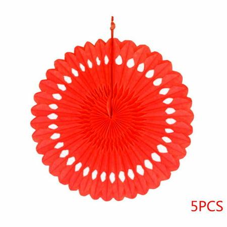5pcs 20cm DIY Hanging Tissue Paper Honeycomb Fans Pinwheels Hollow Paper Flowers Wedding Party Festival - Diy Pinwheels