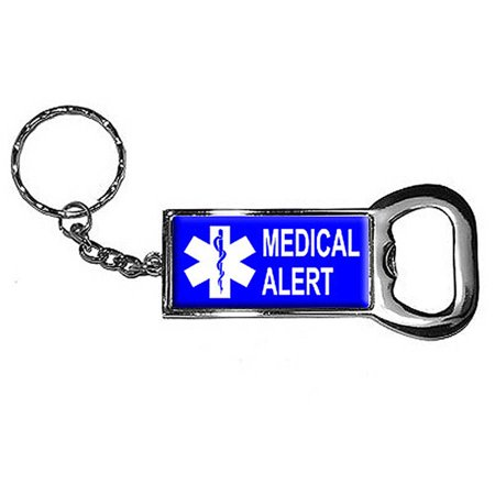 medical alert keychain key chain ring bottle bottlecap opener. Black Bedroom Furniture Sets. Home Design Ideas