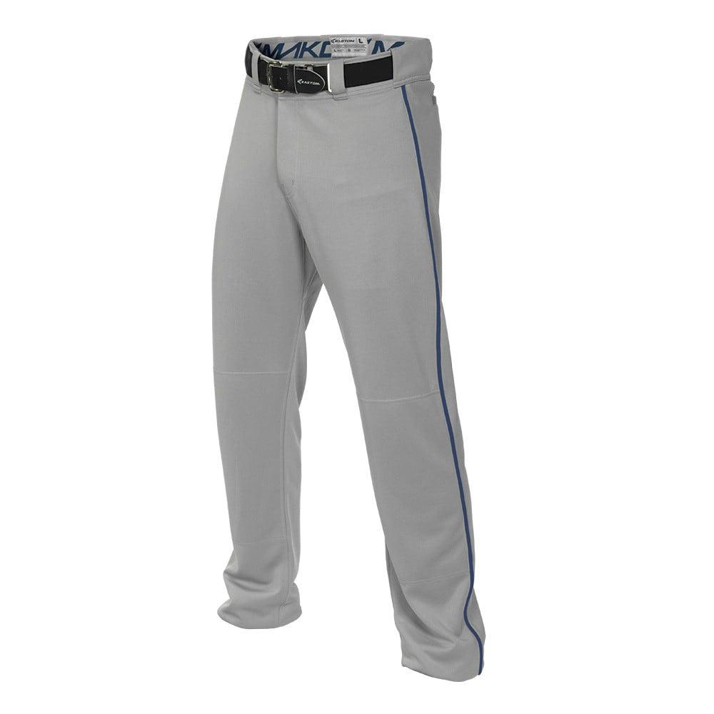 Easton MAKO2 Piped Mens Baseball Pant - Grey/Royal - Size...