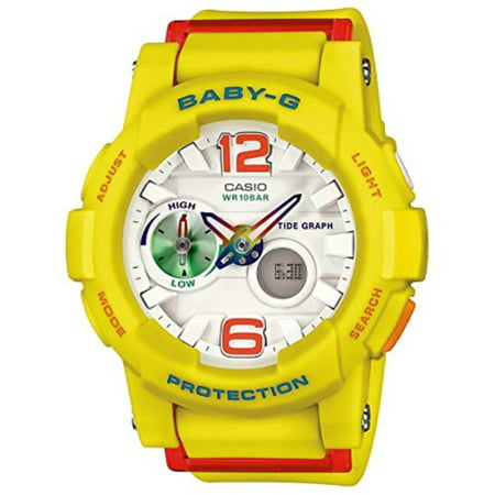 Casio Baby-G G-lide Beach Fashion Series White Dial Ladies Watch BGA180-9B