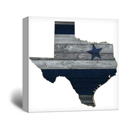 wall26 - Dallas Cowboy Star Wood Background - Canvas Art Wall Decor - - Cowboy Wall Decor