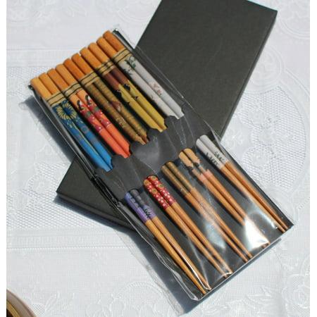 5 Pairs of Coated Wood Chopsticks 9