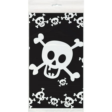 Plastic Skull Party Table Cover, 84