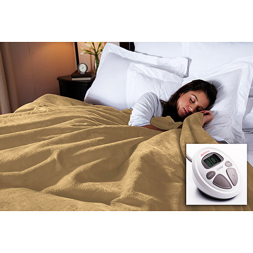 Sunbeam Microplush Electric Blanket, Additional Colors Available