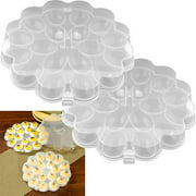 Trademark Home Set of 2 Deviled Egg Trays with Snap On Lids, Holds 36 Eggs