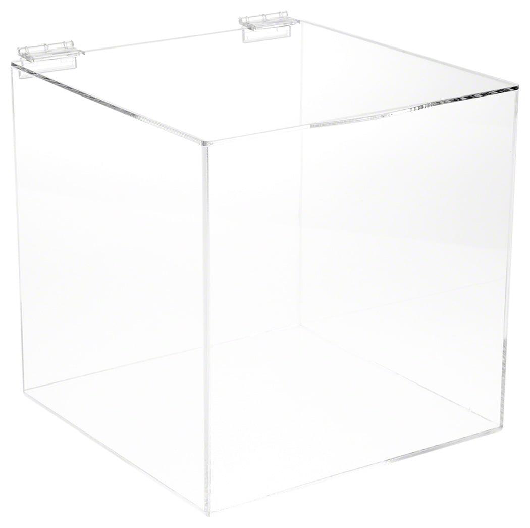 Plymor Brand Acrylic Display Box Case With Hinged Lid Walmartcom