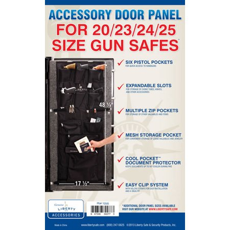 Liberty Accessory Door Panel For 20 23 24 and 25 Cubic Foot Gun Safes 10585 Cubic Foot French Door