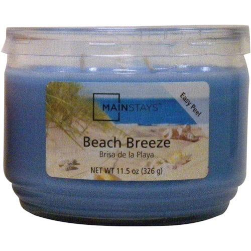 Mainstays 6 pc 11.5 oz Jar Beach Breeze, Blue