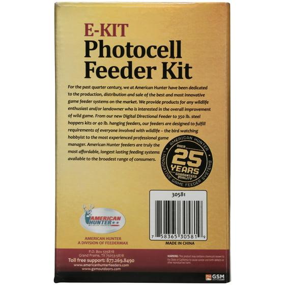 American Hunter Wildlife Feeders E Kit 30581 Photocell Feeder Kit 2