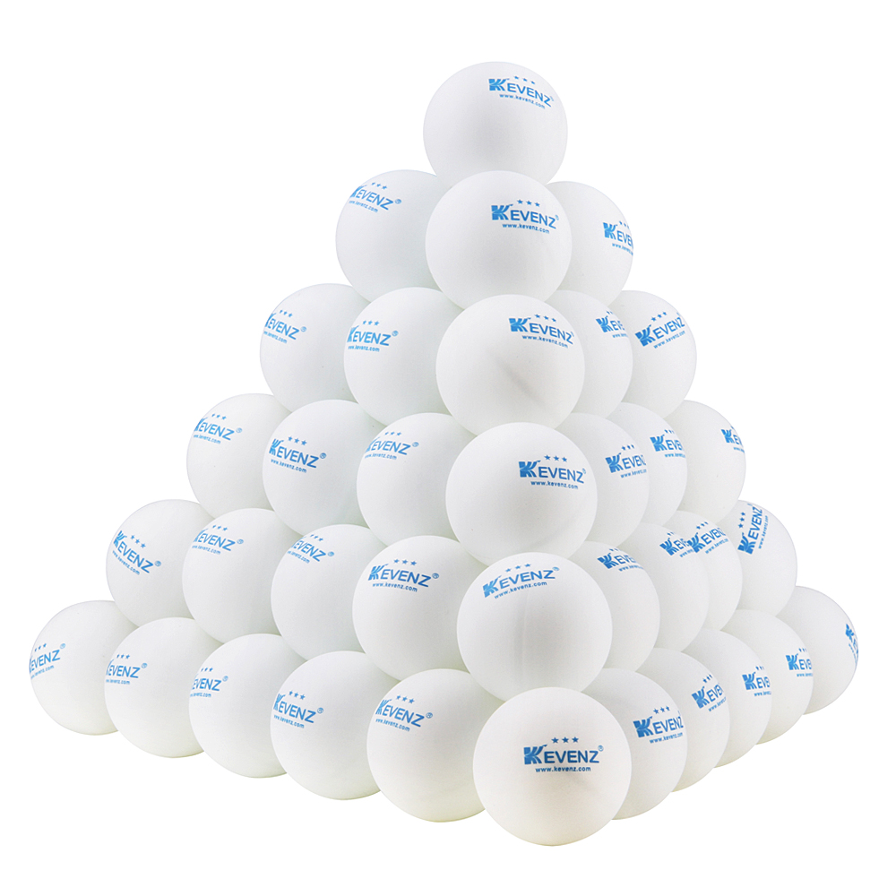 50 Counts Kevenz 3-star Practice Ping Pong Ball(white) by