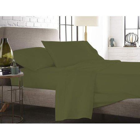 The Great American Store- 1800 Series Microfiber Solid 4PC Sheet Set Full Grey (1 Fitted sheet (15 Inch Deep), 1 Flat sheet & 2 Pillowcases) - Wrinkle & Fade Resistant