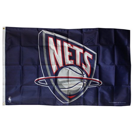 New Jersey Nets - 3' x 5' NBA Polyester Flag 5 New Jersey Nets