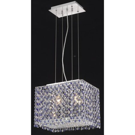 Cute Crystal (Moda 2 light Chrome Chandelier Clear Elegant Cut Crystal)