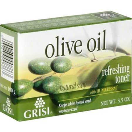 Grisi Natural Olive Oil Soap, 3.5 oz (Pack of 6) (Olive Oil Soap Making)