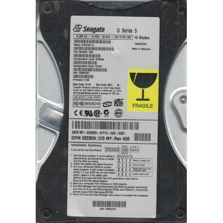ST310211A, 7DB, ML2, PN 9R4005-032, FW 3.05, Seagate 10GB IDE 3.5 Hard Drive