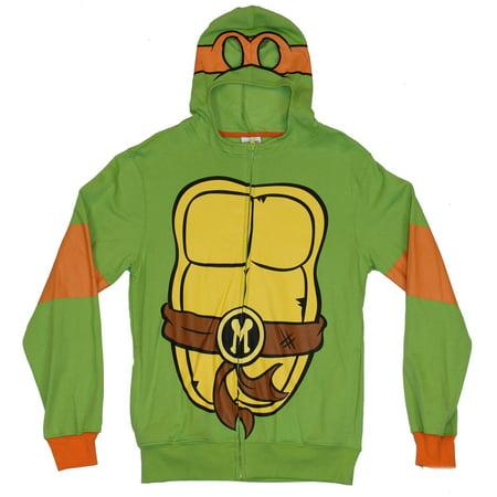 Teenage Mutant Ninja Turtles Mens Hoodie Sweatshirt - Michelangelo Costume