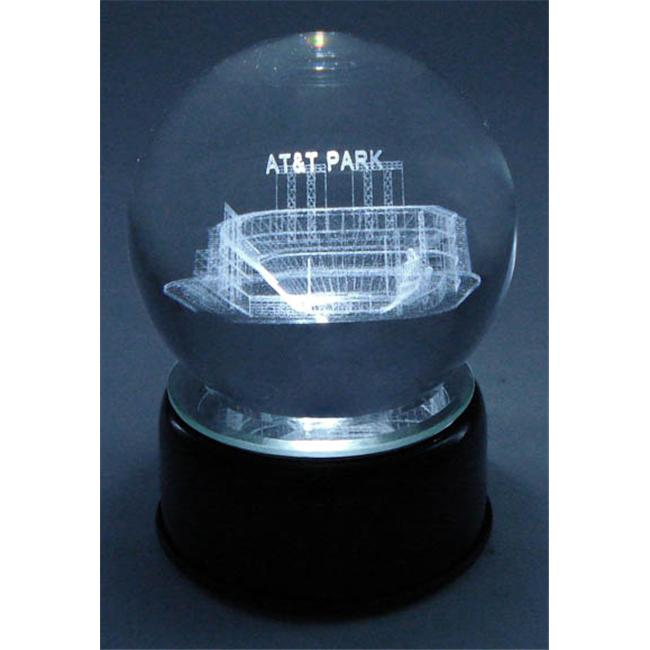 Paragon Innovations Co SBCLES AT&T Park Etched In A Crystal Ball  Base Musical & Lit.  Plays ''Take me out to the