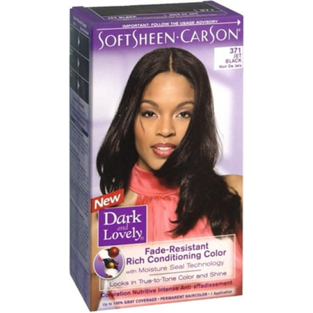 Dark and Lovely Fade Resistant Rich Conditioning Color, [371] Jet Black 1
