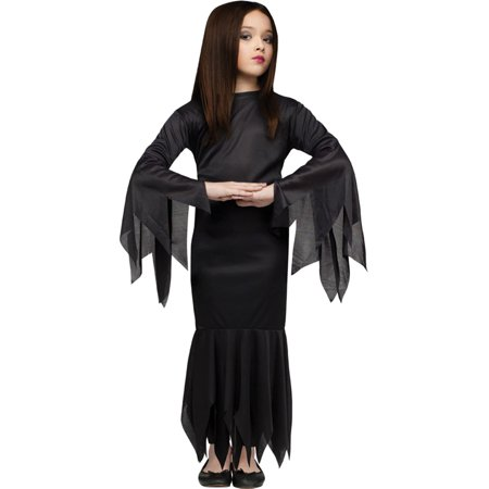 Morris Costumes Girls Classic Halloween Robes Morticia Black 4-6, Style FW9731SM - Morticia E Gomez Halloween