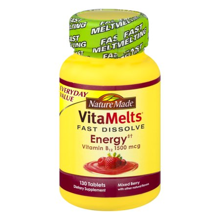 Nature Made VitaMelts Fast Dissolve Energy Vitamin B12 1500 mcg - 130 CT