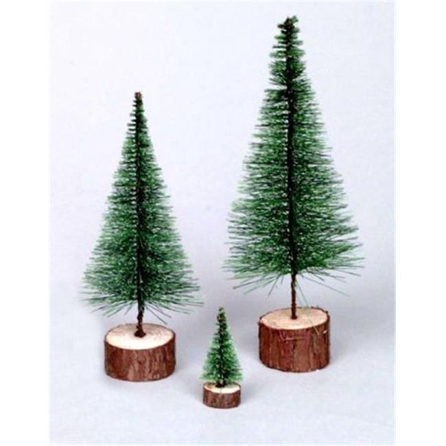 NorthLight 5 inch Green Artificial Village Christmas Tree - Unlit