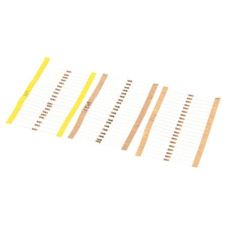860pcs 1 ohm-1M ohm 1/4W Carbon Film Resistors Assortment Kit Set 43 Values Total Electronic Components - image 3 of 6