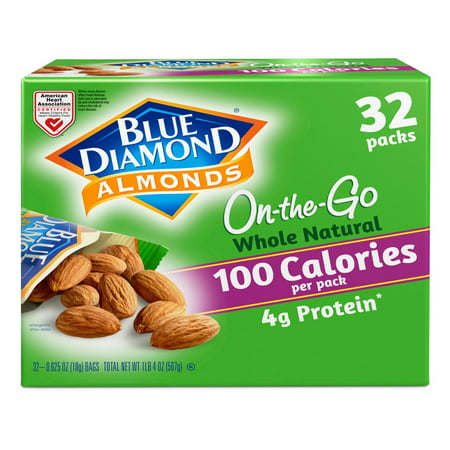 Product of Blue Diamond Whole Natural Almond Snack Packs, 32 ct. [Biz