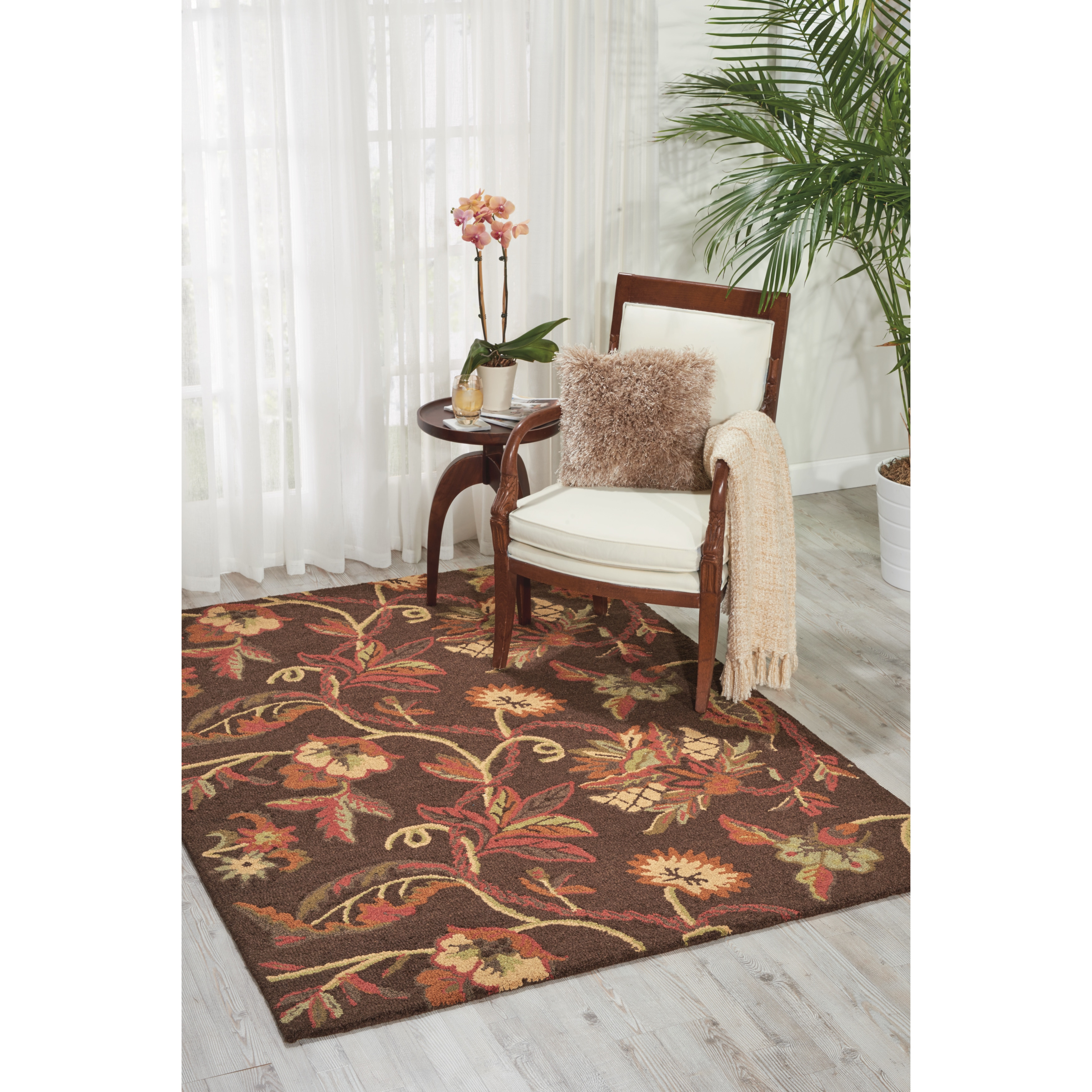 Nourison  Crochet Chocolate Area Rug - 5' x 7'