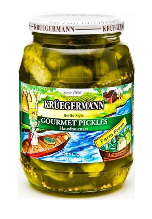 Kruegermann's Best Gourmet Pickles Hausfrauenart Style (32 floz) by Kruegermann