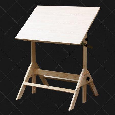 Ktaxon Pinewood Artist Drawing Table Drafting Table Desk Sketching Painting Drawing Board Studio Art Craft Station, Wood, Height Adjustable - image 7 de 7