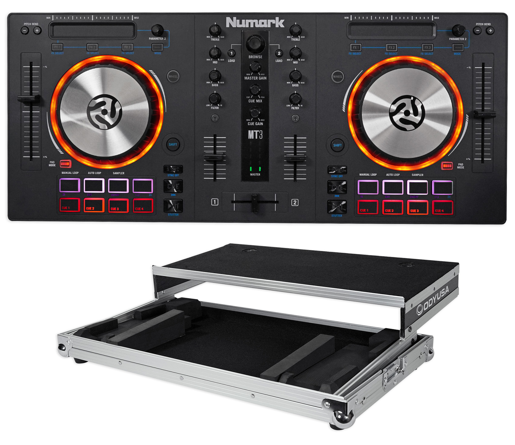 Numark Mixtrack 3 DJ Controller For Virtual DJ Mixtrack III+Case+Laptop  Platform