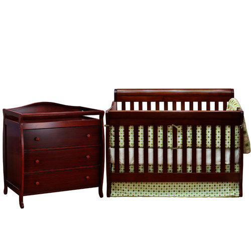 AFG Baby Furniture Alice Grace 2 Piece Convertible Crib Set