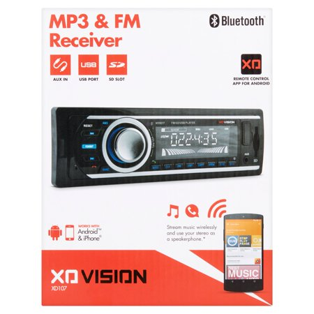 Xo Vision Xd107bt Car Stereo Mp3 Fm Receiver With Bluetooth