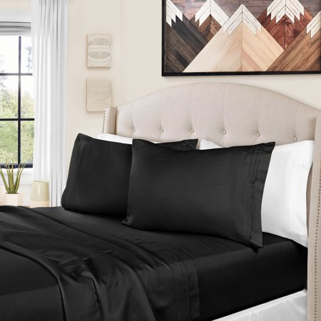 1500 Thread Count Egyptian Cotton Bedding Sheets & Pillowcases, 4-Piece Sheet Set by Impressions - Queen