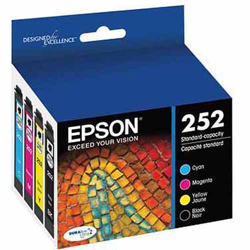 Epson 252 Standard-capacity Black/Color Combo Pack Ink Cartridge