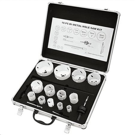 XtremepowerUS 18 PCS BI-Metal Hole Saw Kit 13 Size 3/4