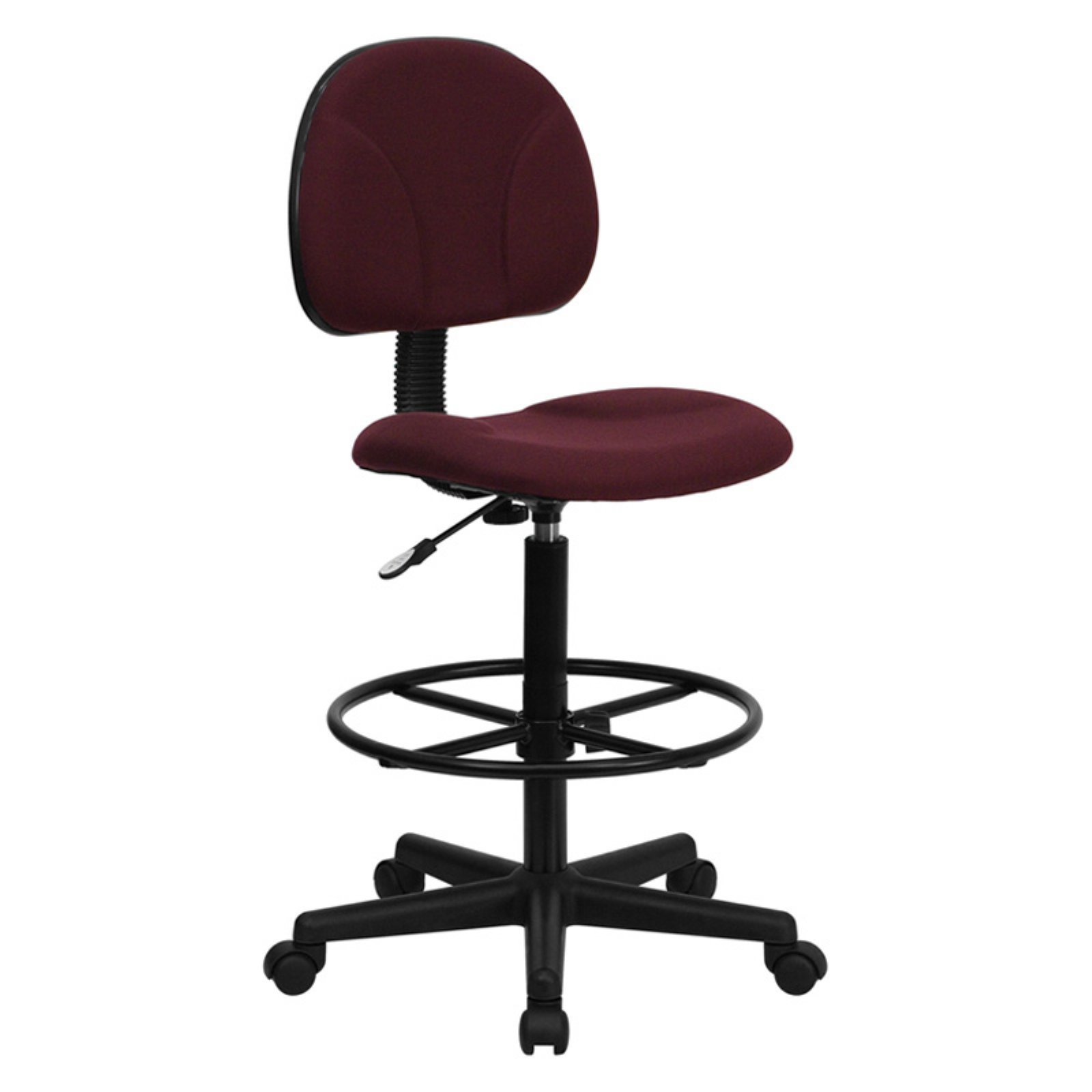 Ergonomic Multi Function Adjustable Height Drafting Stool, Burgundy