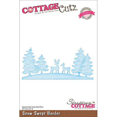 "CottageCutz Elites Die, 5-1/2"" x 2-1/2"", Snow Swept Border"