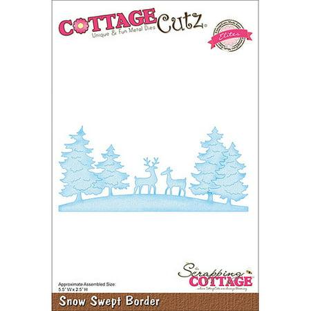 """CottageCutz Elites Die, 5-1/2"""" x 2-1/2"""", Snow Swept Border"""