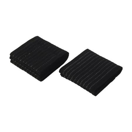 Running Yoga Nylon Breathable Ankle Support Brace Bandage Wrap Black 2 Pcs (E4hats Nylon Wrap)